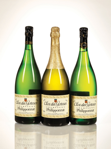 Toast to the season with the fine wines offered in the Zachys Holiday Auction on Invaluable, including an exceptional selection of Philipponnat Clos des Goisses (Lots 1216 - 1218 pictured). (Photo: Business Wire)