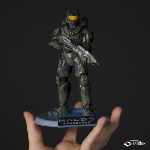 Sandboxr's customized, one-of-a-kind 3D Spartan figurines from Halo 5: Guardians. (Photo: Business Wire)
