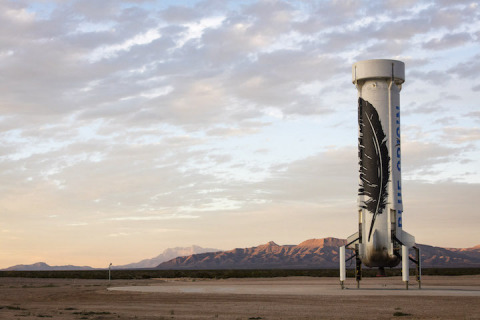 Blue Origin's New Shepard space vehicle successfully flew to space before executing a historic landing back at the launch site in West Texas. (Photo: Business Wire)