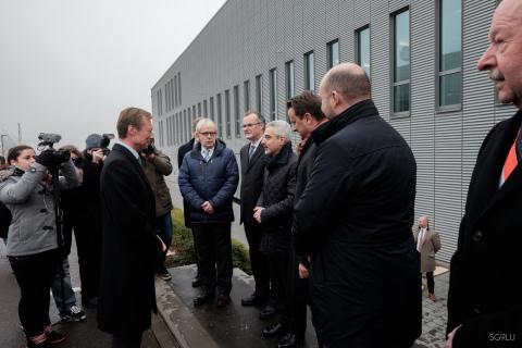 SES Weiht ATF Und SOC in Anwesenheit Seiner Königlichen Hoheit, Des Grossherzogs Henri Ein (Photo: S ...