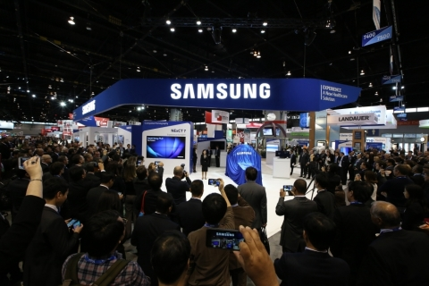Visitors awaiting Samsung's CT unveiling at RSNA's 101st annual meeting (11/28 - 12/4) on November 2 ...