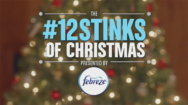 "Jane Lynch and Matthew Morrison host the Febreze #12Stinks of Christmas Party, Monday, Nov. 30, 2015 in New York, where they unveiled ""The #12Stinks of Christmas"" video, a parody on the classic holiday tune. Febreze eliminates stinks in a merry way, keeping hosts guest-ready all season long. The video, starring the duo, is available now on the brand's YouTube channel. (Photo by Diane Bondareff/Invision for Febreze/AP Images)"