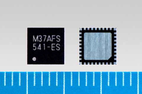 """Toshiba: """"TMPM37AFSQG """", the world's smallest ARM(R) Cortex(R)-M3-based vector control microcontroller with a built-in pre-driver. (Photo: Business Wire)"""