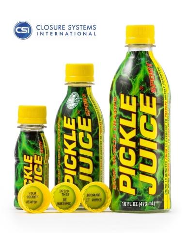 Pickle Juice with CSI UTC Printed Closures (Photo: Business Wire)