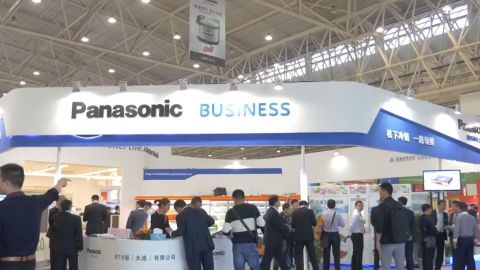 "The Panasonic booth at ""CHINASHOP 2015"" in Wuhan, China (Photo: Business Wire)"