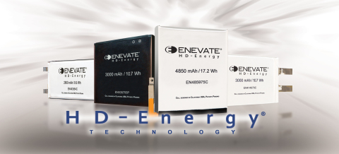 Enevate silicon Li-ion batteries with HD-Energy Technology. (Photo: Business Wire)