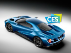 The Consumer Technology Association has named the Ford GT – an ultra-high-performance supercar that serves as a technology showcase for top EcoBoost® performance, aerodynamics and lightweight carbon fiber construction – the Official Vehicle of CES 2016. (Photo: Business Wire)