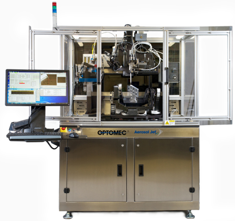 Optomec Aerosol Jet 5 Axis System for printing conformal sensors and antennas onto 3D structures (Ph ...