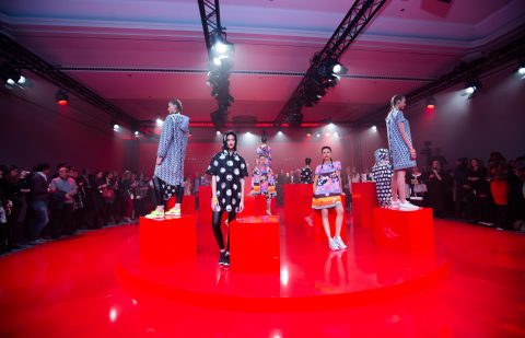 Ariel and Downy/Lenor, alongside renowned designer and P&G Fabric Care Global Fashion Consultant Giles Deacon, revealed a limited edition washable athleisure capsule collection exclusively at the P&G Future Fabrics event in Barcelona, 2nd December 2015.