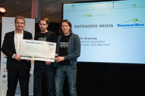 Business Wire Presents Future Award in Media Category (Photo: Business Wire)