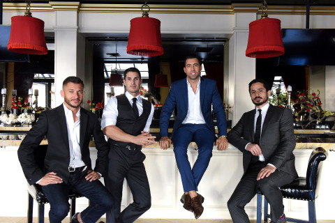 Left to right: Sylvain Bitton, Tosh Berman, J.T. Torregiani, Amrou Manaseer (Photo: Business Wire)