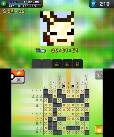 Pokémon Picross is a puzzle game in which you reveal a hidden Pokémon illustration. (Photo: Business Wire)