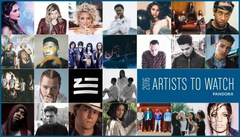Pandora's Artists to Watch 2016 (Graphic: Business Wire)