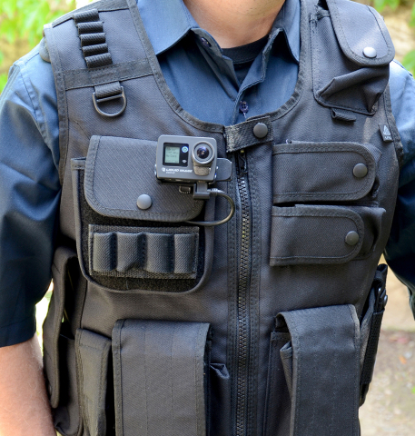 Example use of the Ego LS as a body worn camera. (Photo: Business Wire)
