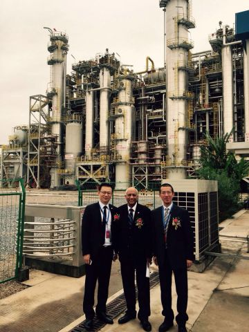 The world-scale Isononanol (INA) plant for BASF and China Petroleum & Chemical Corporation (Sinopec) (Photo: Business Wire)