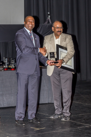 Reddy Shivaprasad, VP-MEA Intense Technologies, receiving TT100 award (Photo: Business Wire)