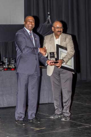 Reddy Shivaprasad, VP-MEA Intense Technologies, receiving TT100 award (Photo: Business Wire)