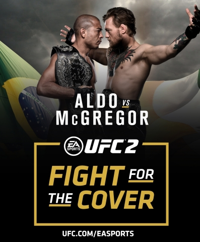 Jose Aldo and Conor McGregor Fight for the Cover at UFC 194 (Graphic: Business Wire)