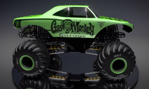 3D rendering of the Gas Monkey Garage truck https://youtu.be/ZUuS2uJP-wU (Photo: Business Wire)