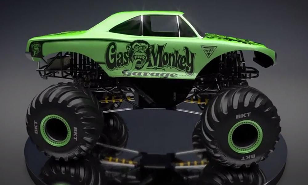 gas monkey garage monster jam truck to debut in 2016. Black Bedroom Furniture Sets. Home Design Ideas