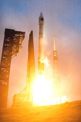 Orbital ATK's Cygnus Spacecraft carrying vital cargo to resupply the International Space Station lif ...