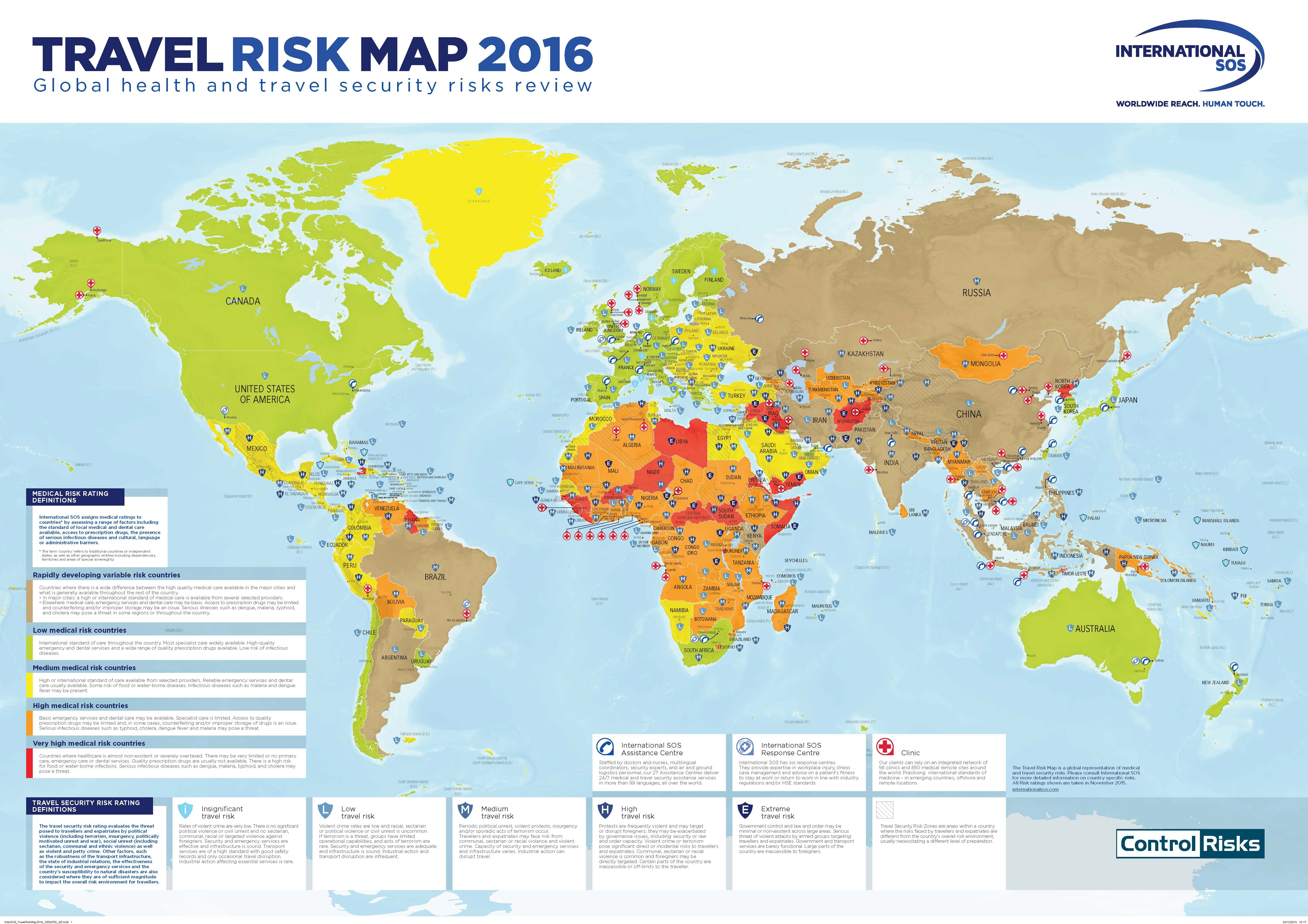 FirstofItsKind Travel Risk Map Launched By International SOS And - Where have you been travel map