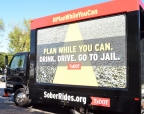 TxDOT Plan While You Can Interactive Vehicle visiting 11 Texas cities during the holidays to urge drivers to line up a sober ride home. Visit SoberRides.org (Photo: Business Wire)