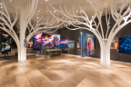 The new Andrei Duman Gallery in the Westfield Topanga outside Los Angeles with Soraa LED lights. (Photo: Andrei Duman)