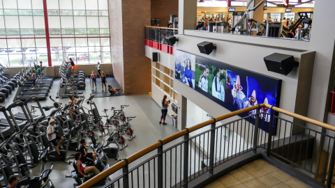 Planar Clarity Matrix Video Wall at UNLV (Photo: Business Wire)