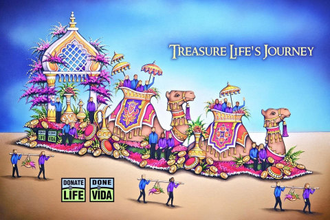 The 2016 Donate Life Float celebrates organ, tissue and eye donation. (Graphic: Business Wire)