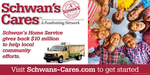 Log on to Schwans-Cares.com to learn more about how the Schwan's Cares program works. (Graphic: The Schwan Food Company)
