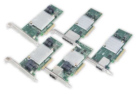 PMC Adaptec HBA 1000 series of 12Gb/s SAS/SATA Host Bus Adapters (Photo: Business Wire)