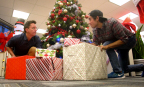 Zach King produces Christmas Bling video with Klick, performing festive magic tricks to redecorate the office for the holidays. Video available at: klick-inc.com/holiday (Photo: Business Wire)