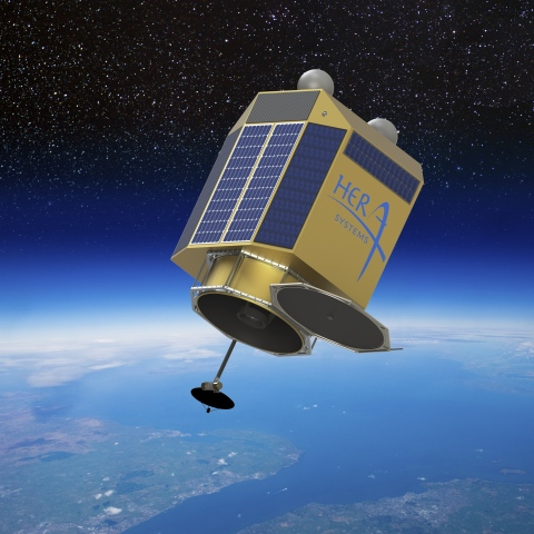 Artist's rendering of future Hera Systems ultra-high resolution imaging satellite (Photo: Business W ...