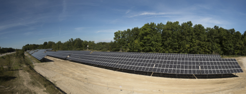 A DTE Energy solar system of 1.1 megawatts-peak of SolarWorld solar panels is now operating at Domino's Farms Office Park in Ann Arbor Township, Michigan, which houses the world headquarters of Domino's Pizza Inc. and more than 50 other corporations. (Photo: DTE Energy)