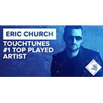 Country Music Sensation Eric Church was TouchTunes' Top Played Artist of 2015.