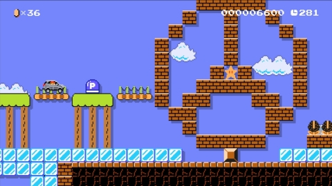 """The Mercedes-Benz Jump'n'Drive level is available in the """"Event Courses"""" section of Super Mario Maker, which showcases special levels presented by Nintendo and partners. (Photo: Business Wire)"""