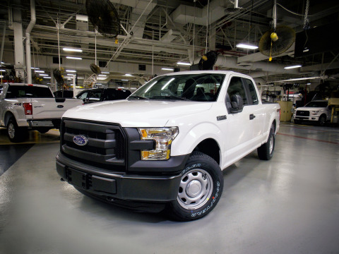 The first 2016 Ford F-150 with the ability to run on clean-burning compressed natural gas has rolled ...