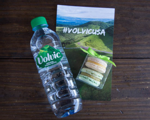 Volvic Natural Spring Water partners with UberEATS and La Maison du Macaron to celebrate National Pa ...