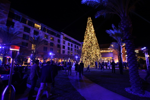 The Park at Viejas, featuring a 60-foot Christmas tree, where the 2015 Toy Drive was held. (Photo: Business Wire)