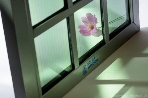 Transparent SolarWindow™ Unit Capable of Generating Electricity (Photo: Business Wire)