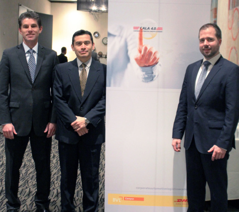 From left to right: Han Roest, Vice President, Global Sector Head Automotive, DHL Global Forwarding; ...