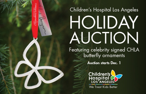 Just hours remain for the Children's Hospital Los Angeles Holiday Auction Featuring Celebrity-signed Ornaments and Speck cases for iPad Air tablets. (Graphic: Business Wire)