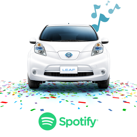 Nissan celebrates fifth anniversary of first LEAF delivery with crowd-sourced playlist on Spotify (P ...