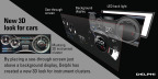 From video games to cars, Delphi is introducing 3D instrument clusters at the 2016 CES trade show, bringing multi-dimensional depth to flat screens. The technology was first developed for Las Vegas slot machines. (Graphic: Business Wire)