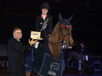 Prize-giving ceremony with Lisa Nooren (NED) winner of the Longines Grand Prix of 2015 CSI A Coruña's winter edition and Juan-Carlos Capelli Vice President of Longines and Head of International Marketing (Photo: Business Wire)