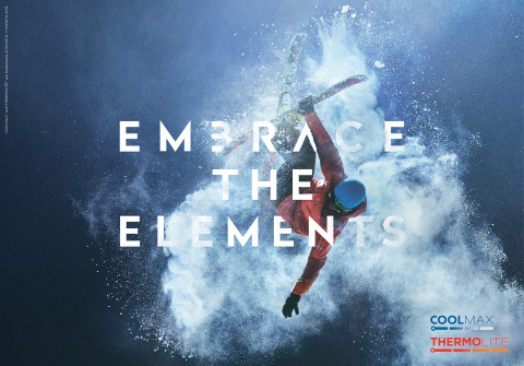 INVISTA is launching a new campaign for COOLMAX® and THERMOLITE® brands. The EMBRACE THE ELEMENTS campaign reflects the new brand positioning for these brands and includes a contemporary look and feel with new logos, hangtags, websites, and simplified brand architecture. (Photo: Business Wire)