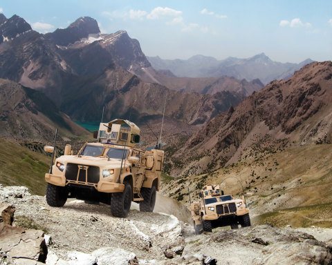 The Oshkosh L-ATV combines the ballistic capability of a light tank, the underbody blast protection  ...