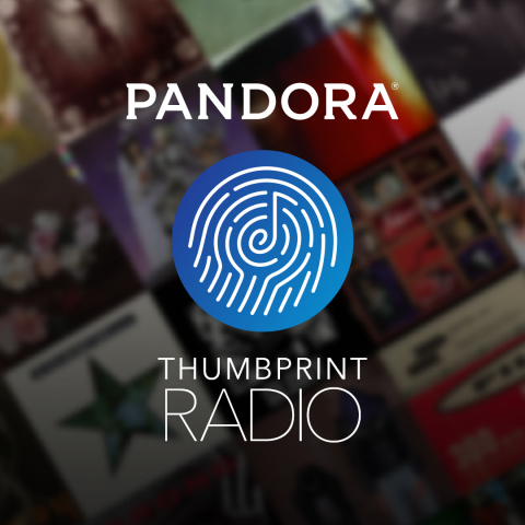 Pandora announces Thumbprint Radio - get yours now (Graphic: Business Wire)