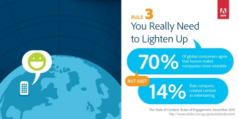 State of Content: Rules of Engagement for 2016. Rule 3 - You Really Need to Lighten Up (Graphic: Business Wire)